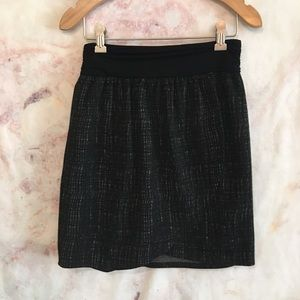Anthropologie Charcoal Print Skirt